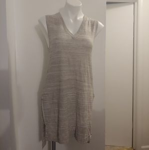NWOT the limited creamish/gray tunic length vneck